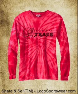100% Cotton Long-Sleeve Spider Tie-dyed T-Shirt Design Zoom